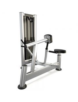 materiel-de-salle-de-sport-rowing-machine-modele-3d