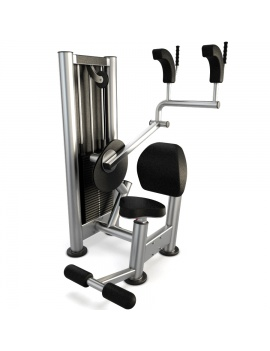 materiel-de-salle-de-sport-upper-abdominal-modele-3d