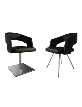 jolly-black-leather-armchairs-3d-model