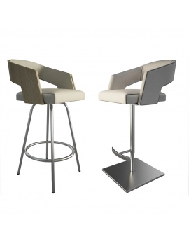 jolly-leather-and-wood-stools-3d-model