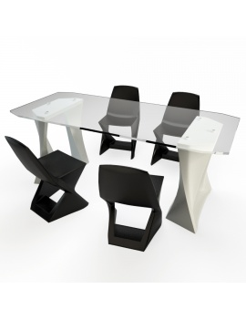 chairs-and-table-iso-qui-est-paul-3d-model