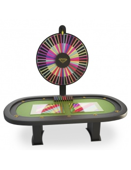 table-de-jeux-casino-roue-de-la-fortune-modele-3d