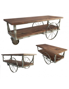table-basse-industrielle-a-roulettes-modele-3d