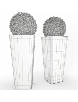 large-all-so-quiet-plastic-pot-and-bush-3d-model-wireframe