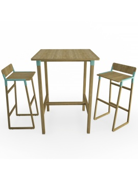 noem-wooden-table-and-stools-3d-models