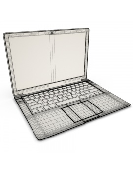 mac-book-air-apple-modele-3d-filaire