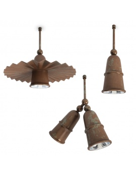 rusty-pendant-lamps-set-civetta-3d-model