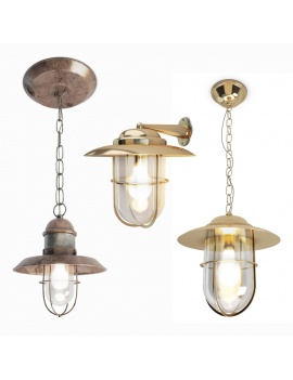 vintage-lighting-set-bayonne-3d-model