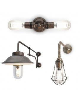 vintage-wall-lamps-set-3d-model