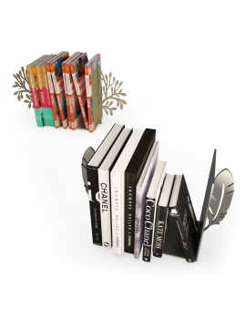 feather-and-tree-bookends-3d-models