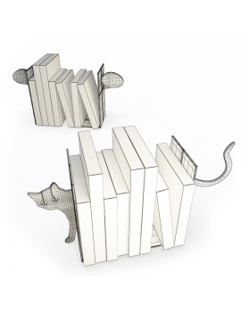 cat-and-bubble-bookends-3d-models-wireframe