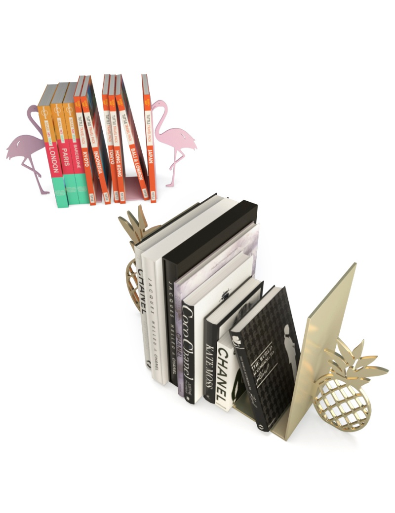 pink-flamingo-and-pineapple-bookends-3d-models