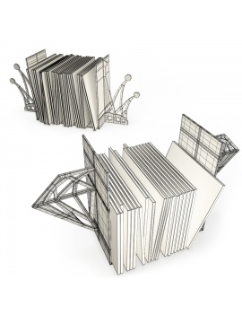 crown-and-diamond-bookends-3d-models-wireframe