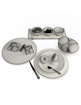fruits-and-plates-composition-3d-model-wireframe