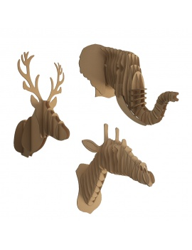 cardboard-sculpture-animals-set-3d-model