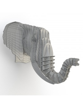 cardboard-sculpture-animals-set-3d-model-elephant-wireframe