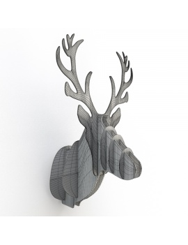 cardboard-sculpture-animals-set-3d-model-deer-wireframe