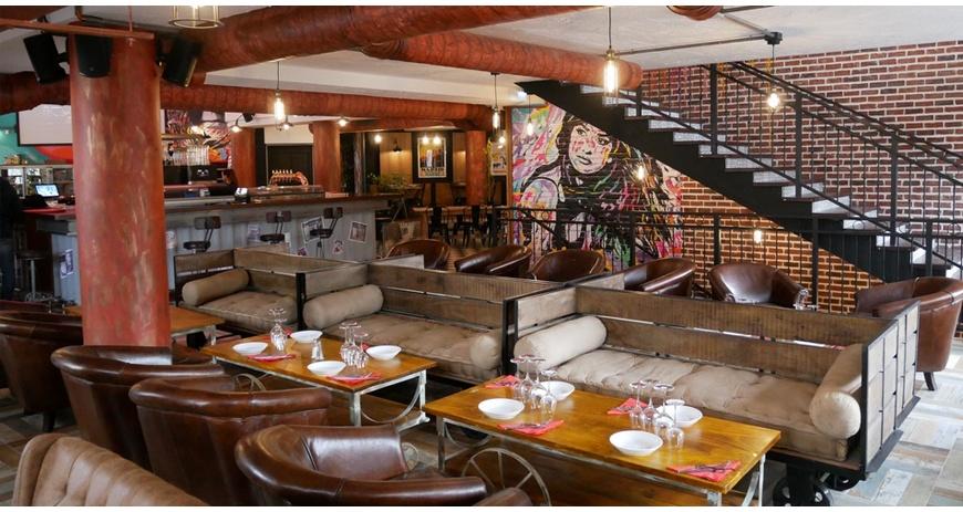Interior design of a vintage restaurant