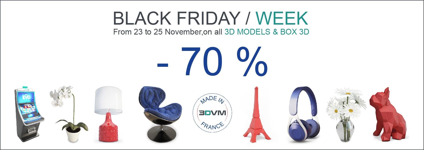 Black Friday Week 3D Virtual Market